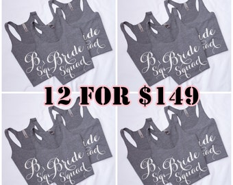 12 Tank Tops -Perfect for your Bridal Party, Bachelorette Party