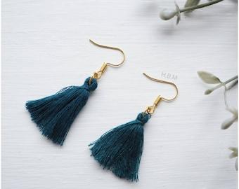 New mini statement fringe tassel earrings | boho tassel dangle drop earrings