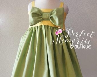 Tiana Dress | Girls Princess Dress | Birthday Dress | Baby Tiana | Disney Dress | Halloween Costume | Princess Tiana | Disney Vacation