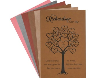 12x18 Leatherette Family Tree Wall Decor - Personalized