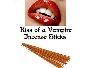 "Incense Sticks 11"" Kiss of a Vampire Scented 25 Pack of Hand Dipped 1 Hour Burning Sticks Buy 3 Get 1 Free Mix & Match"