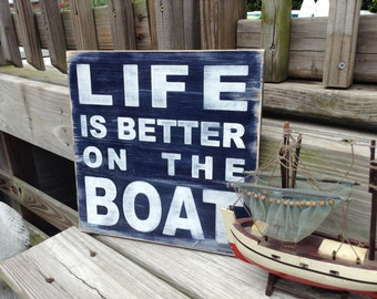 Boating Sign Nautical Nursery and Beach Decor