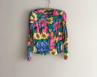 "90's ""Kelly Kapowski"" Floral Blazer"