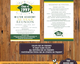 Reunited party mini favor boxes personalized class reunion class reunion invitation high school reunion 10 year 20 year 30 year 40 year reunion invite change to your class colors item 0321 stopboris Choice Image