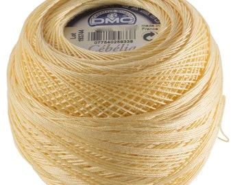 DMC Cebelia Size 10 100% Cotton Crochet Thread - 284 Yards - Color 745 Banana Yellow