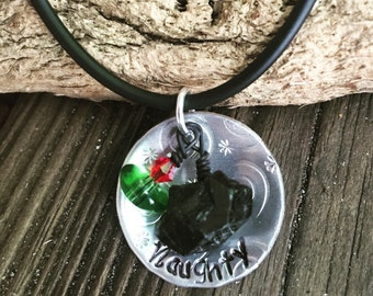 Naughty Lump of Coal Necklace