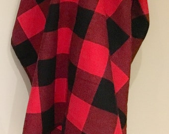 Buffalo Plaid | Lumberjack Flannel Receiving Blanket | Trendy Lumberjack Hospital Blanket | Lumberjack swaddle blanket