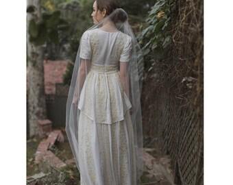 "Ballet length 60"" mantilla cut edge bridal veil - Style no. 2116"