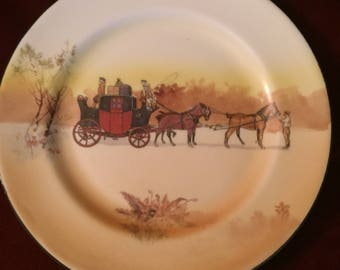 Rare Antique Edwardian Royal Doulton Coaching Days Series Ware Plate