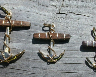 Anchor Pendant,14kt Hand Made