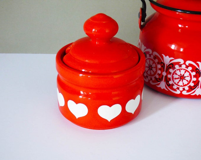 Vintage Waechtersbach Heart Sugar pot