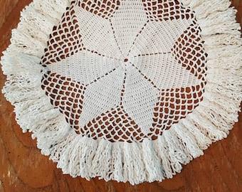 Handmade doily beige vintage