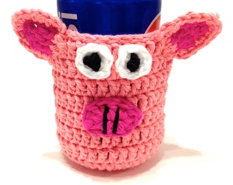 Piggie Crocheted Can Cover