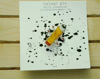 Yellow Creature colour pin