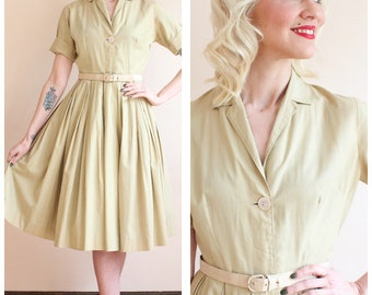 1950s Dress // Classic Shirtwaist Dress // vintage 50s dress