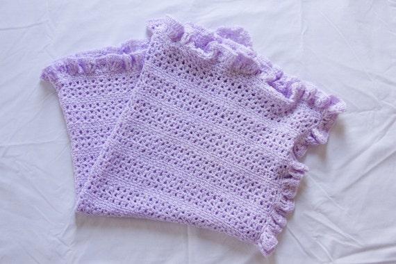 Crochet Pattern 001 - Ruffled V Stitch Baby Afghan Blanket