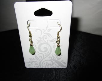Smoke Green Earrings