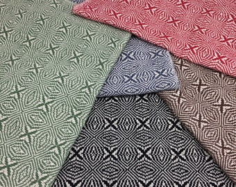 Handwoven Placemats - Snowflakes