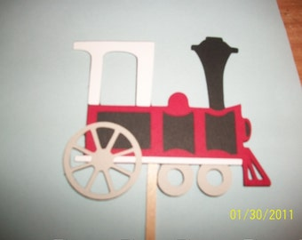 train cupcake toppers- set of 12