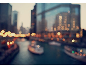 Chicago Photography - City Photograph - Rivertown 2 - Fine Art Photograph - Chicago River Art - Architecture Print - Chicago Print - Bock
