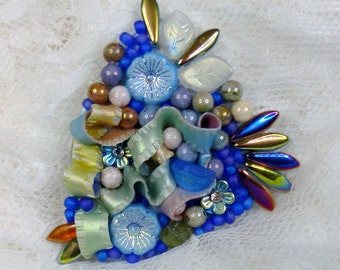 Annabel!!! Pin, Brooch, Polymer Clay, Handmade, One of a kind