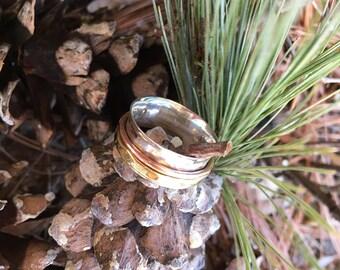 New Meditation Spinner Ring 925 Sterling Silver