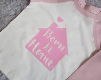 Baby / toddler born at home home birth baseball t-shirt