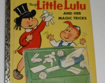 Marge's Little Lulu and Her Magic Tricks  Things To Make and Do With Kleenex Tissue Vintage A Little Golden Book A Edition