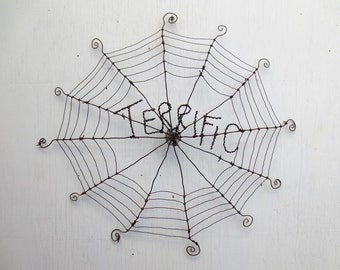Terrific Charlotte's Web Inspired Barbed Wire Spider Web Made to Order
