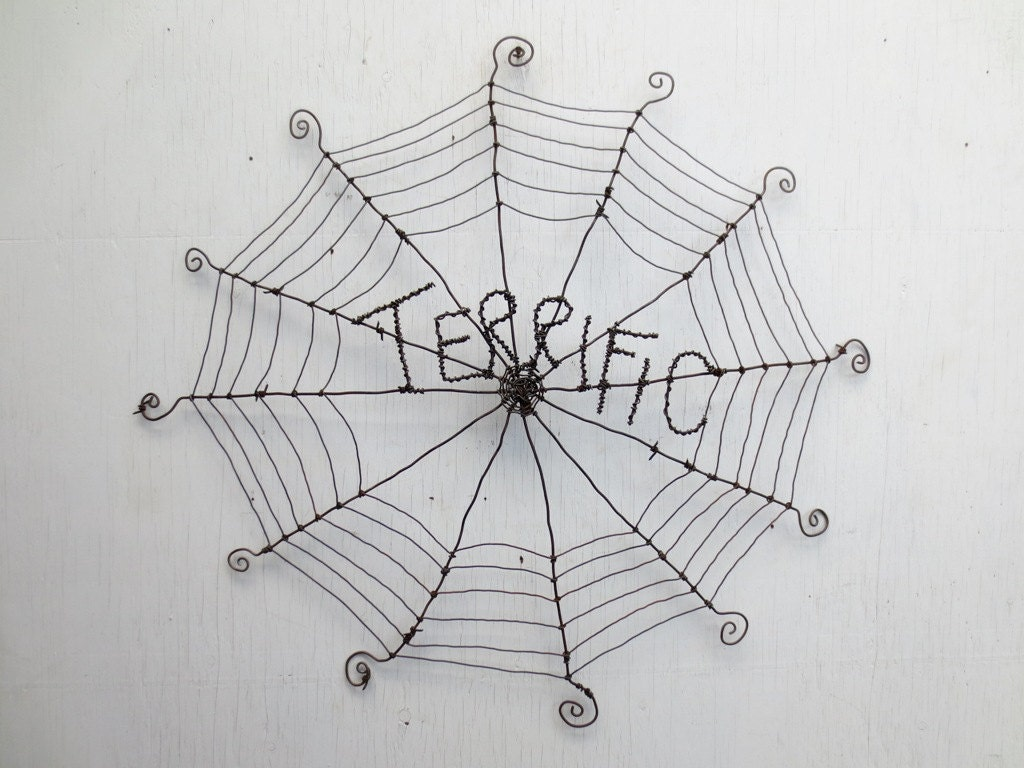 Terrific Charlotte\'s Web Inspired Barbed Wire Spider Web