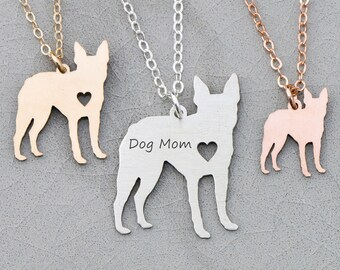 Boston Terrier Necklace • Pet Terrier Present Dog Jewelry Boston Terrier Dog Charm • Terrier Sterling Silver Charm Personalized Silver Dog