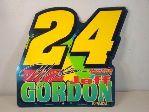 Vintage Nascar Sign Vintage Jeff Gordon Sign 1998 JG