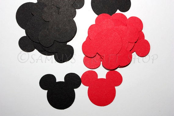 100 Mickey Mouse Confetti, Mickey Mouse Birthday Party, Baby Shower Party  Supplies, Mickey Mouse First Birthday Party Decor From SammysCraftShop On  Etsy ...