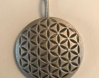 Flower of life Pendant / key fob keychain / Sacred geometry jewelry