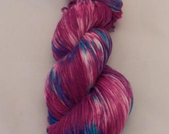 Razzmatazz- Merino Sport Weight Yarn- Hand Dyed- OOAK- 0035