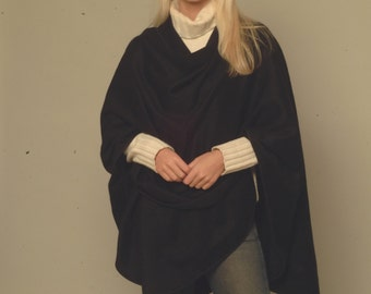 Handwoven luscious PURE CASHMERE cape. Be Stylish and SUPPORT native Mongolian livelihood. By Cashmere Pashmina Group