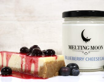 Blueberry Cheesecake Scented Soy Candle, food candle, bakery candle, sweet scents,