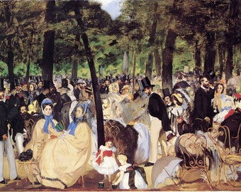 Edouard Manet: Music in the Tuileries. Fine Art Print/Poster (00680)