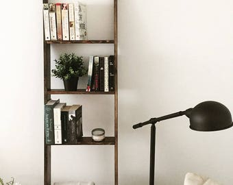 6ft Rustic Wood Shelf Ladder | Blanket Ladder Shelf | Bathroom Shelf | Bookshelf | Home Decor | Étagère | Multiple Sizes Available