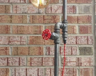 Floor lamp  steampunk Industrial Edison bulb