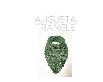 Augusta Triangle | Crochet Scarf | Crochet Triangle Scarf | Triangle Scarf | Crochet Bandana Scarf | Crochet Bandana | Shawl | Crochet Shawl