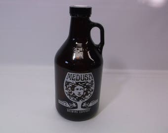 Growler 32oz Medusa Brewing Co Collectible Beer Memorabilia Unique Image Bottle - Never Used - Excellent clean condition