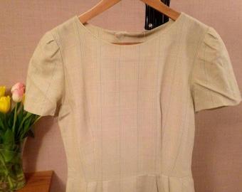 Brooks Brothers Vintage 90's Dress // Wool // Workwear // Size UK 8-10 // Wiggle Dress