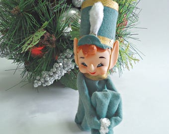 Vintage Christmas Large Elf Tree Hugger Christmas Ornaments Decoration 1960's