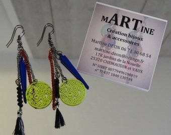 Earrings ethnic earrings, Art Deco jewelry, Bohemian Chic, Boho Chic jewelry, Oriental, African jewelry, gift - unique jewelry
