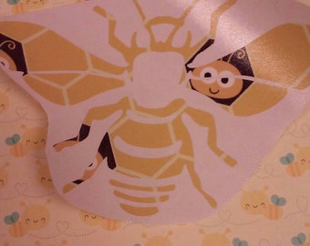 Bee Decal  /  Bee Pattern Decal  / Bee Sticker/Yeti Cup Decal/ Bee's /Save The Bee's /Pattern Bee Decal/ Bee Pattern Stickers
