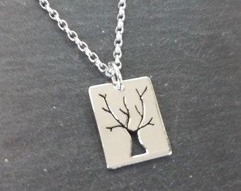 Sherwood Tree Silver Pendant