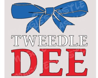 DIY Vinyl Iron On - Tweedle Dee Disney Decal