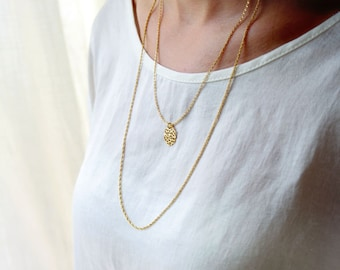 Gold multi strand necklace / double layer necklace /gold layered necklace / 14k Multi chain necklace / birthday gift for her