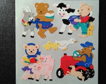 Sandylion Stickers Scrapbooking vintage Farm Animals, Animal  (1 mod)